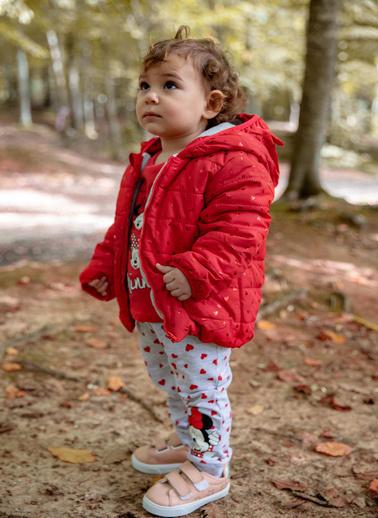 DeFacto Kız Bebek Kalp Baskılı Mont Kırmızı